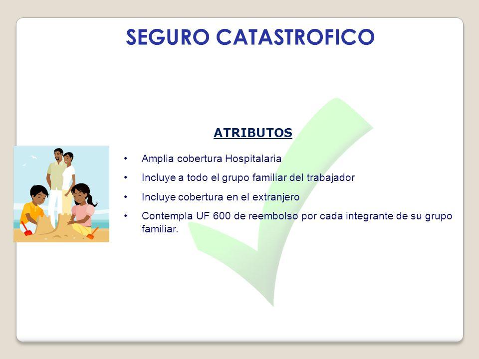 SEGURO CATASTROFICO ATRIBUTOS Amplia cobertura Hospitalaria