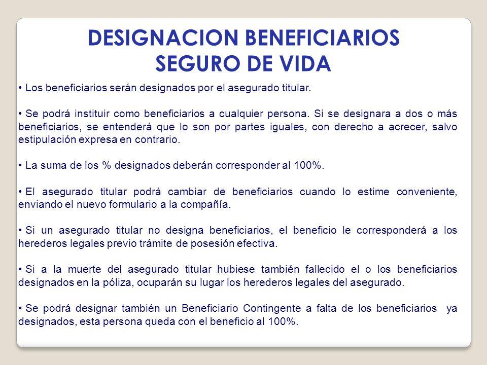 DESIGNACION BENEFICIARIOS