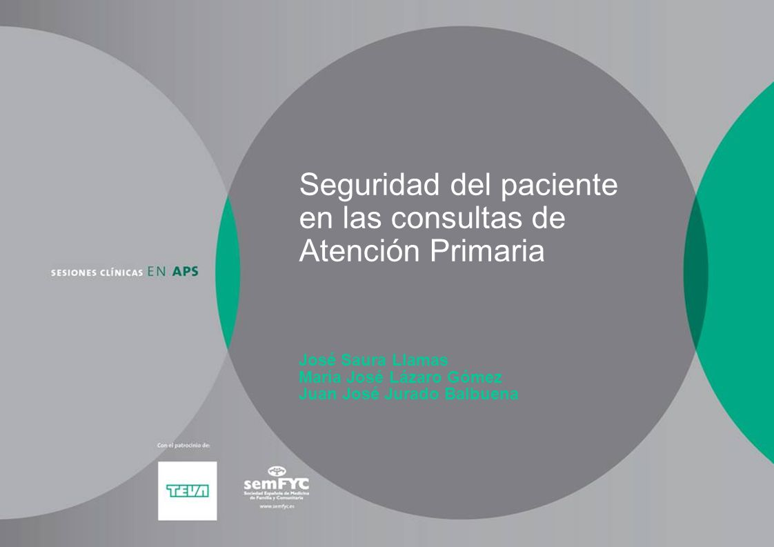 Seguridad del paciente en las consultas de Atención Primaria