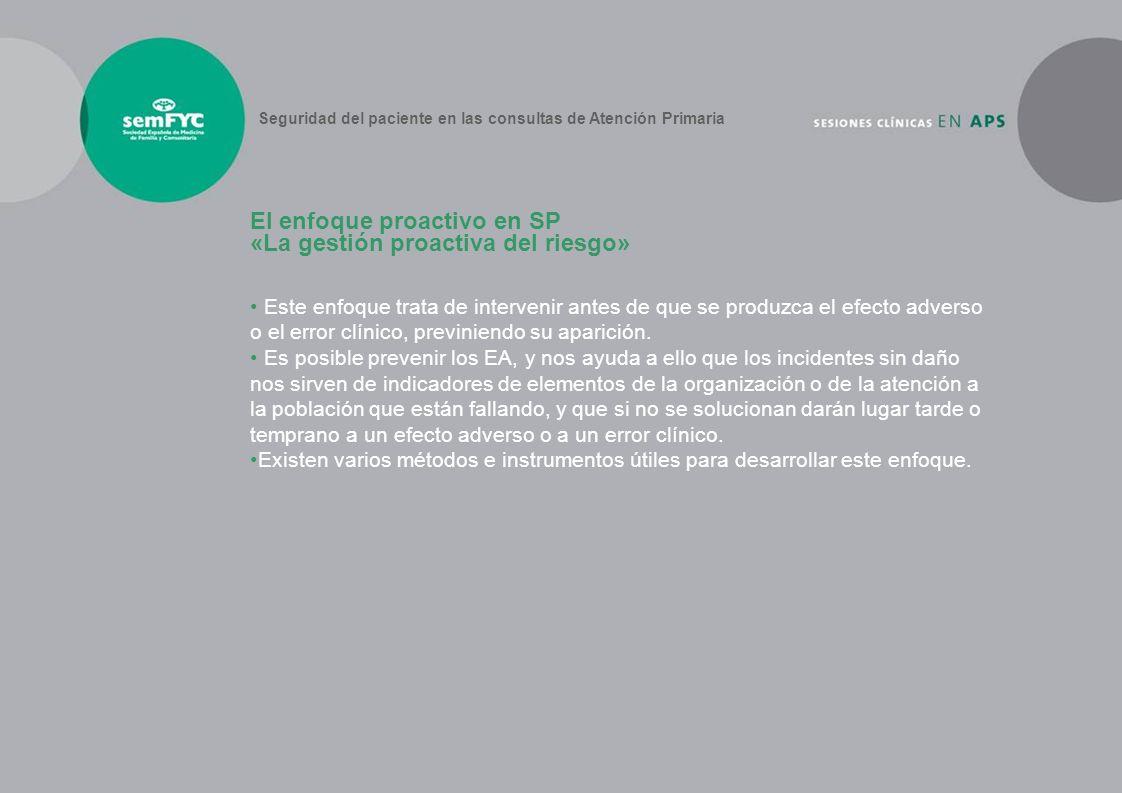 El enfoque proactivo en SP «La gestión proactiva del riesgo»