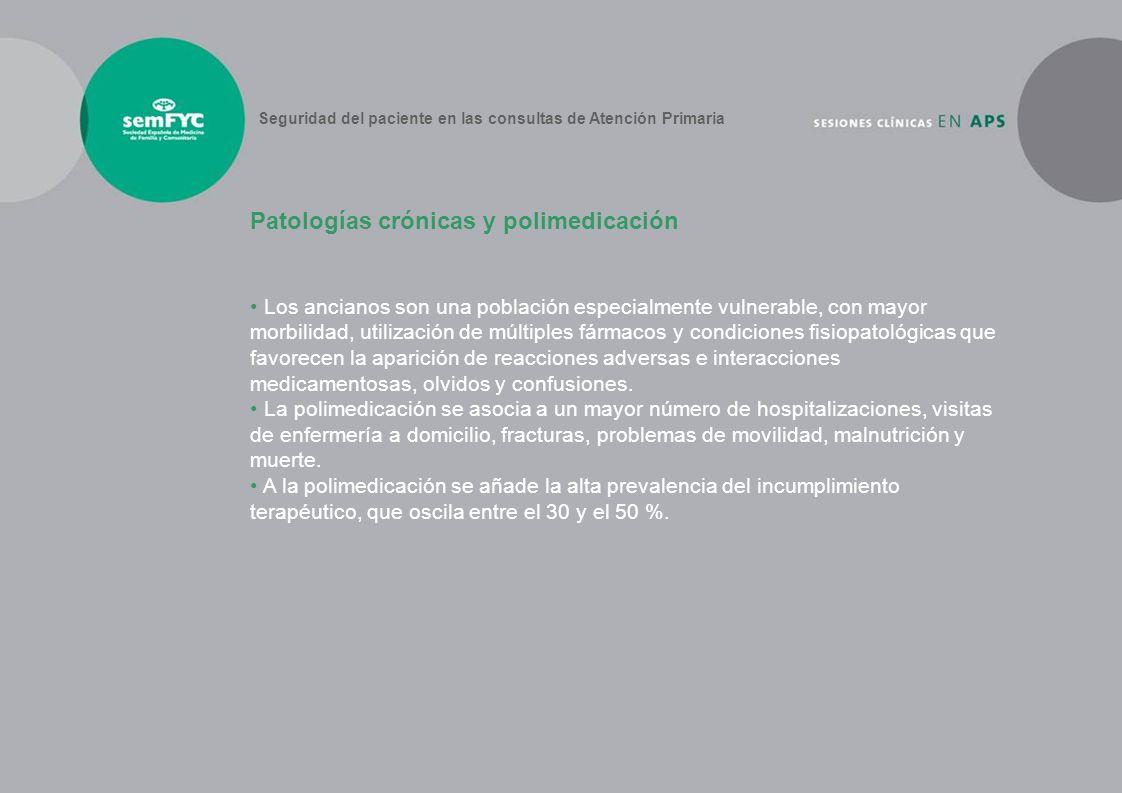 Patologías crónicas y polimedicación