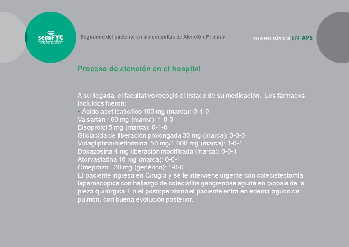 Proceso de atención en el hospital