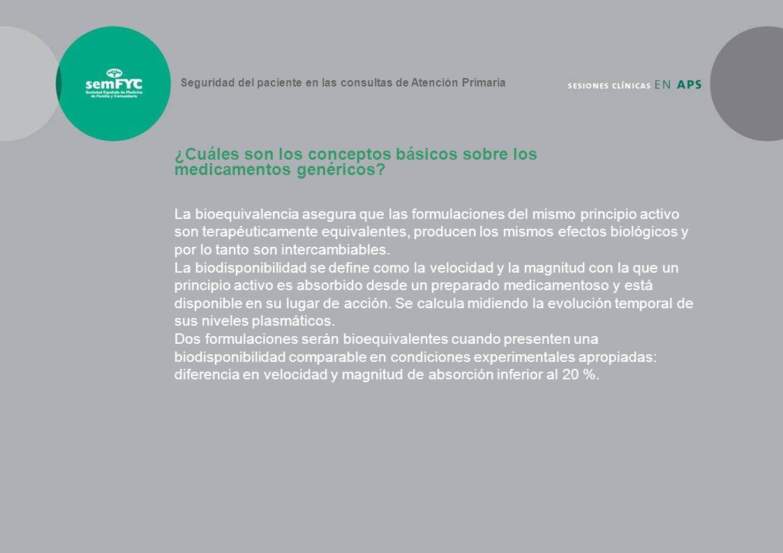 ¿Cuáles son los conceptos básicos sobre los medicamentos genéricos