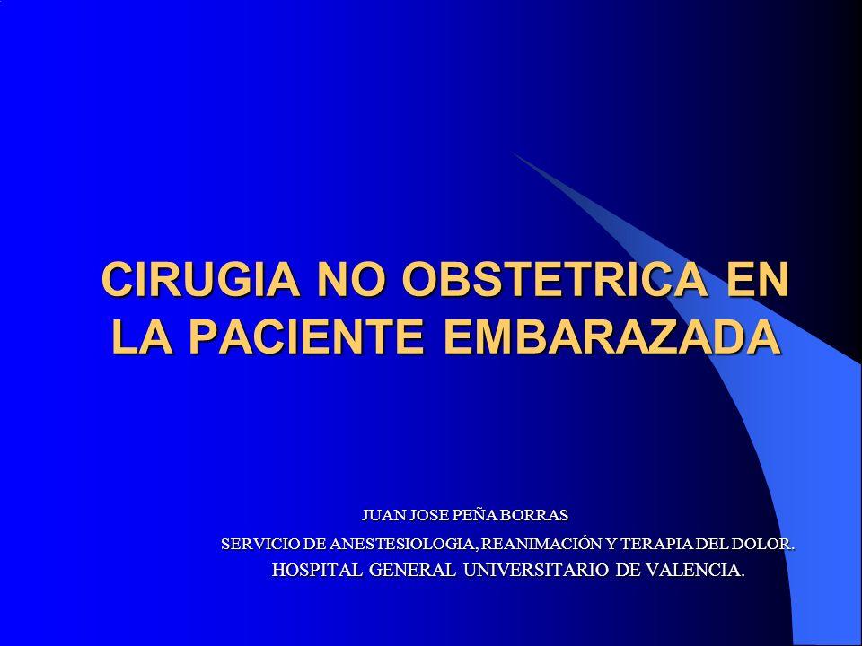 CIRUGIA NO OBSTETRICA EN LA PACIENTE EMBARAZADA