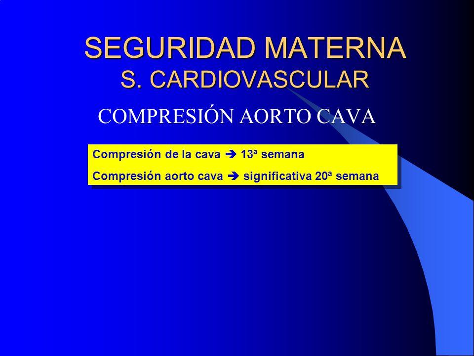 SEGURIDAD MATERNA S. CARDIOVASCULAR