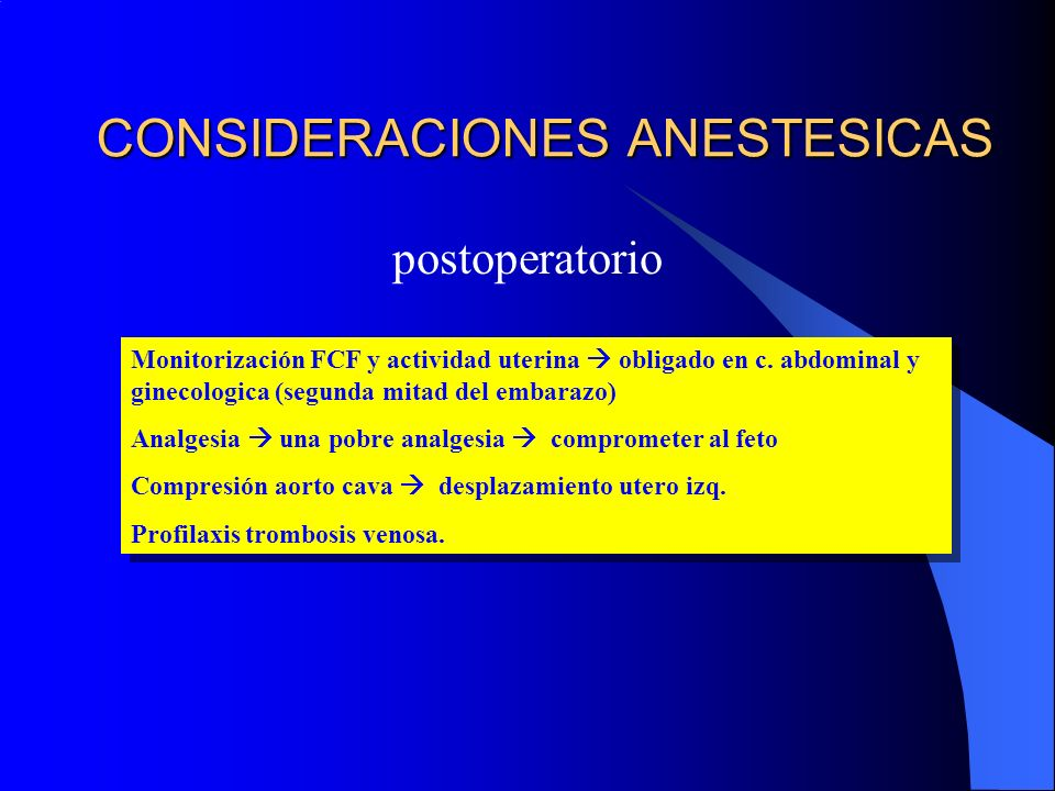 CONSIDERACIONES ANESTESICAS