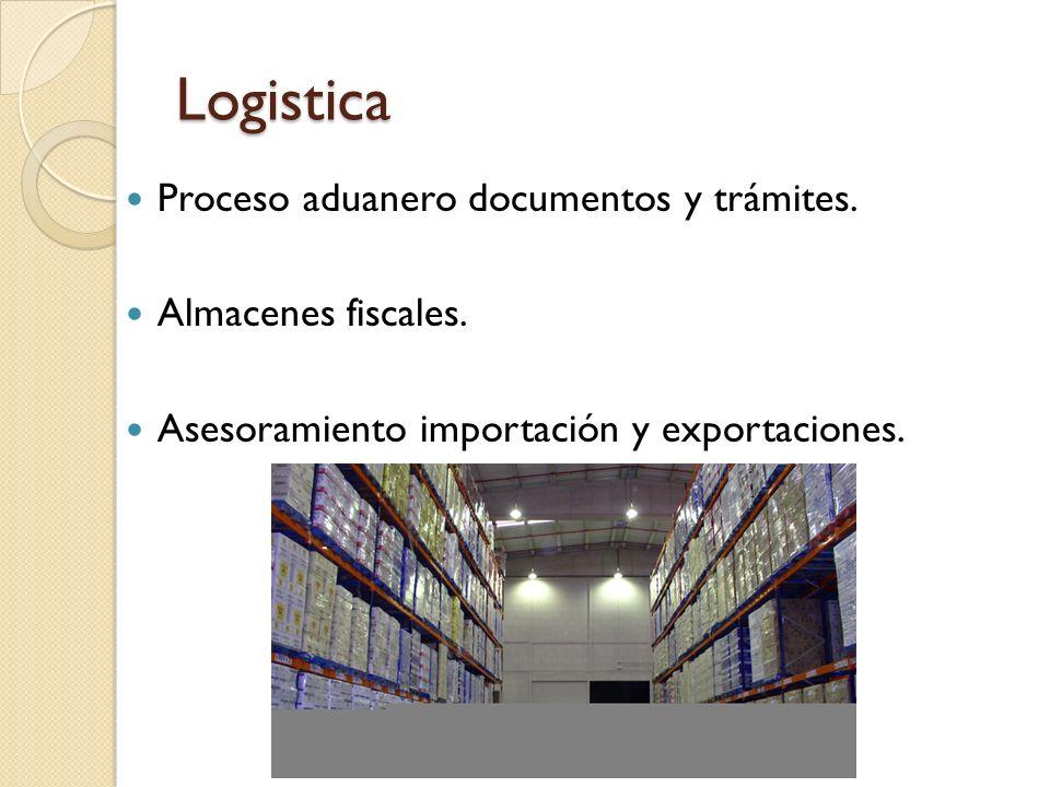 Logistica Proceso aduanero documentos y trámites. Almacenes fiscales.