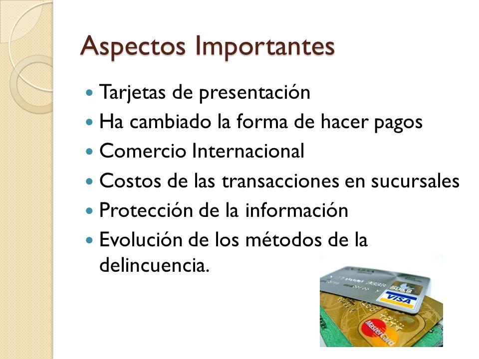 Aspectos Importantes Tarjetas de presentación