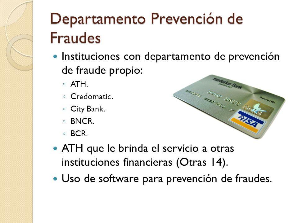 Departamento Prevención de Fraudes