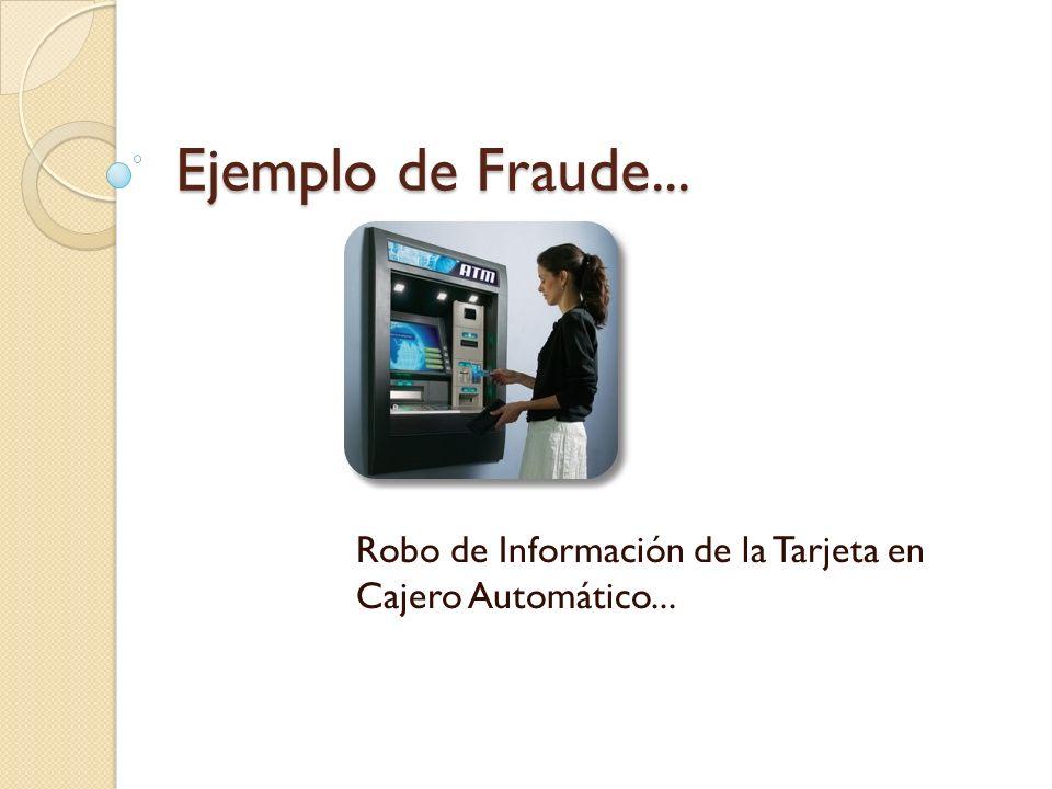 Robo de Información de la Tarjeta en Cajero Automático...