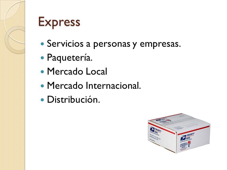 Express Servicios a personas y empresas. Paquetería. Mercado Local