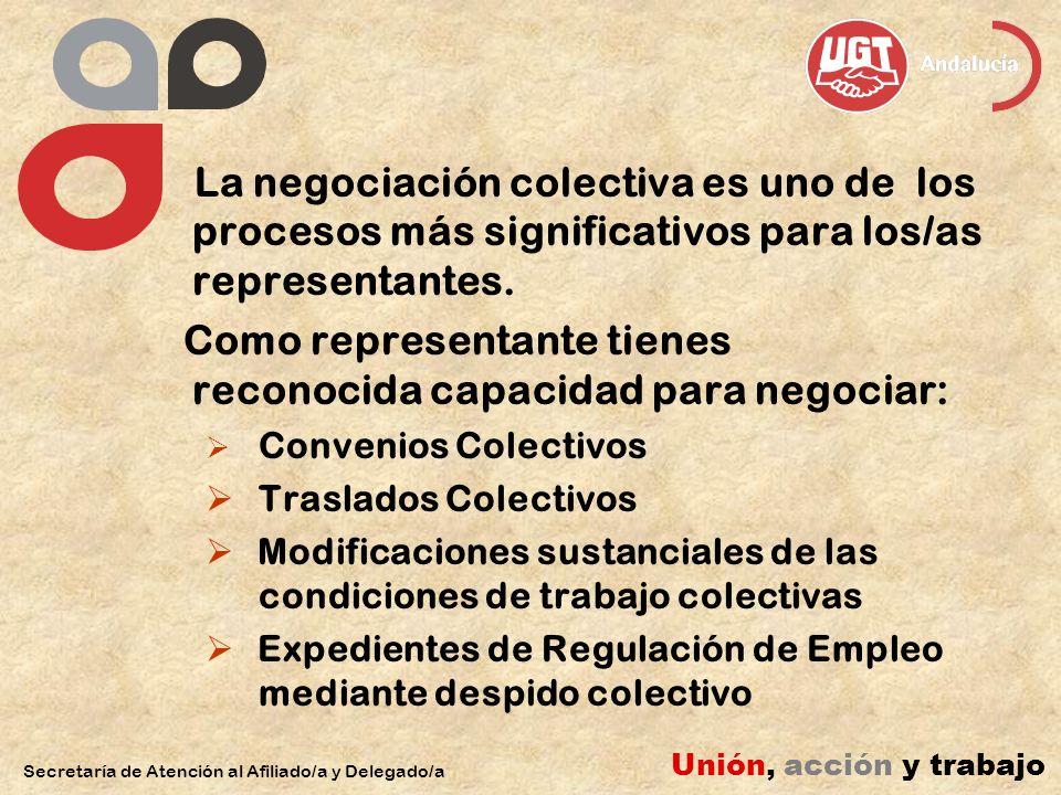 Como representante tienes reconocida capacidad para negociar: