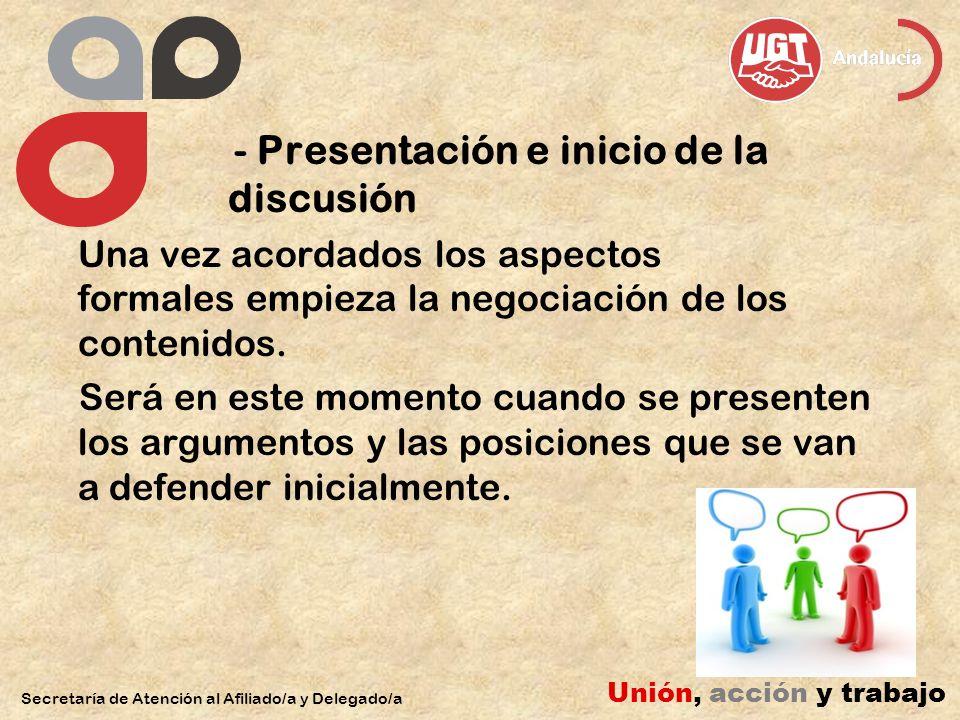 - Presentación e inicio de la discusión