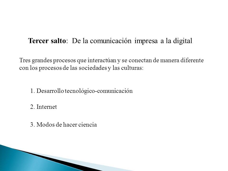 Tercer salto: De la comunicación impresa a la digital
