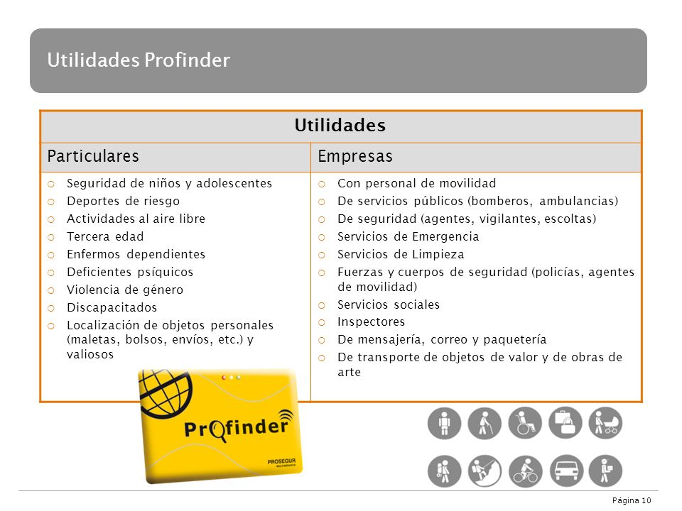 Utilidades Profinder Utilidades Particulares Empresas