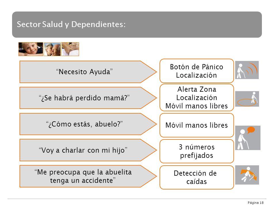 Sector Salud y Dependientes: