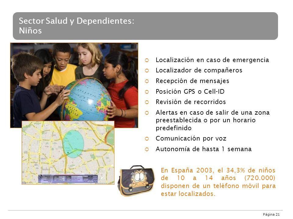 Sector Salud y Dependientes: Niños