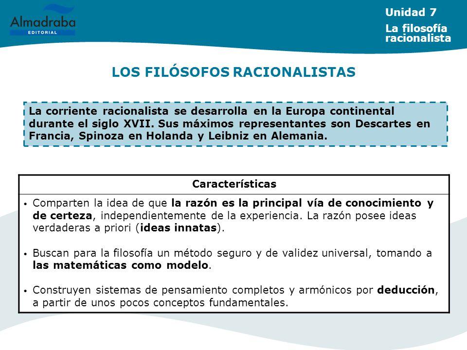 LOS FILÓSOFOS RACIONALISTAS