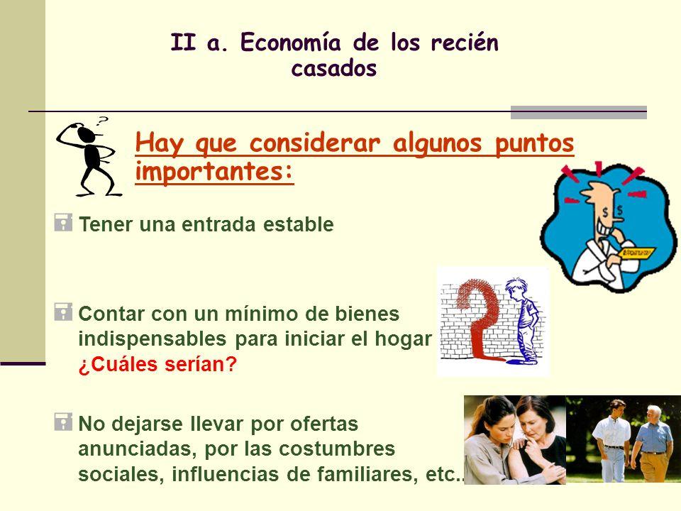 II a. Economía de los recién casados