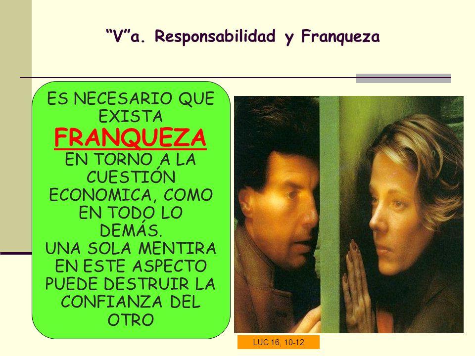V a. Responsabilidad y Franqueza