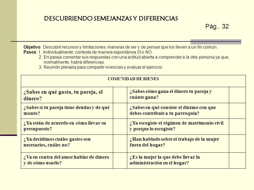 DESCUBRIENDO SEMEJANZAS Y DIFERENCIAS