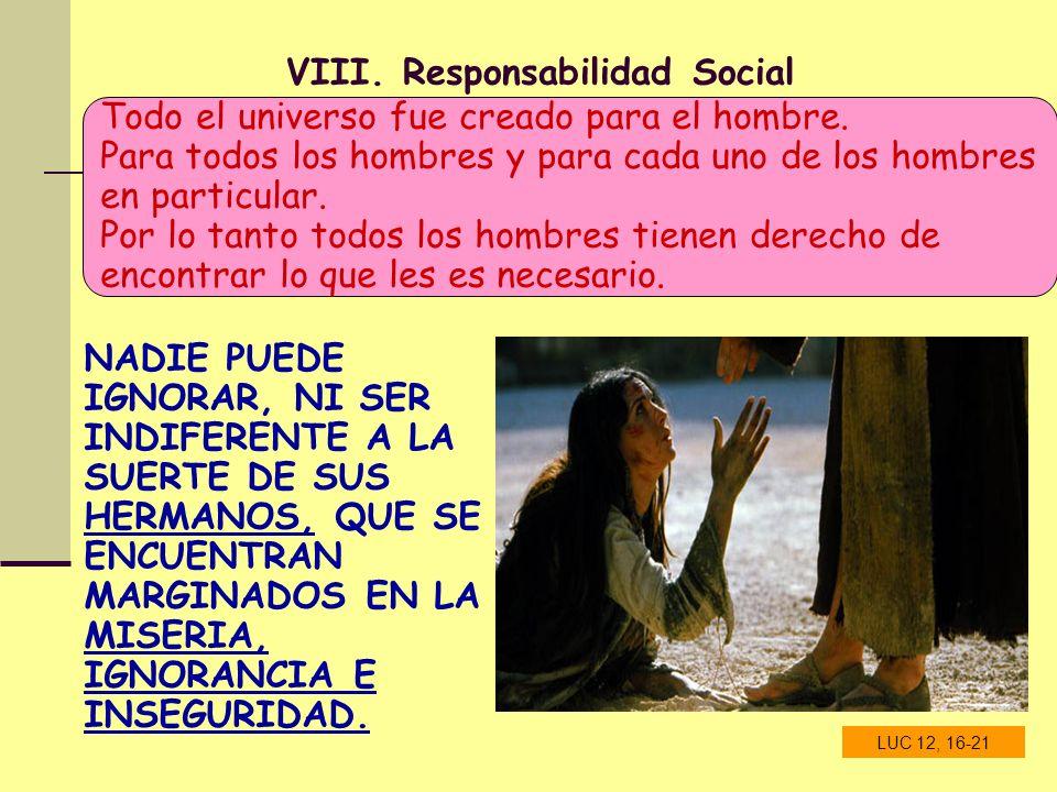 VIII. Responsabilidad Social