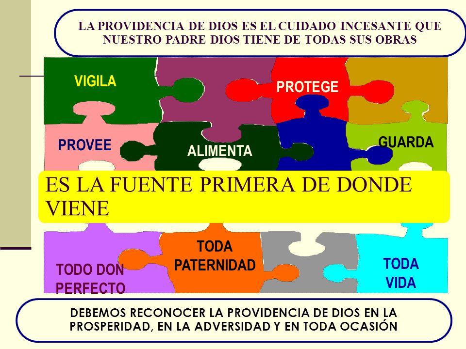 ES LA FUENTE PRIMERA DE DONDE VIENE