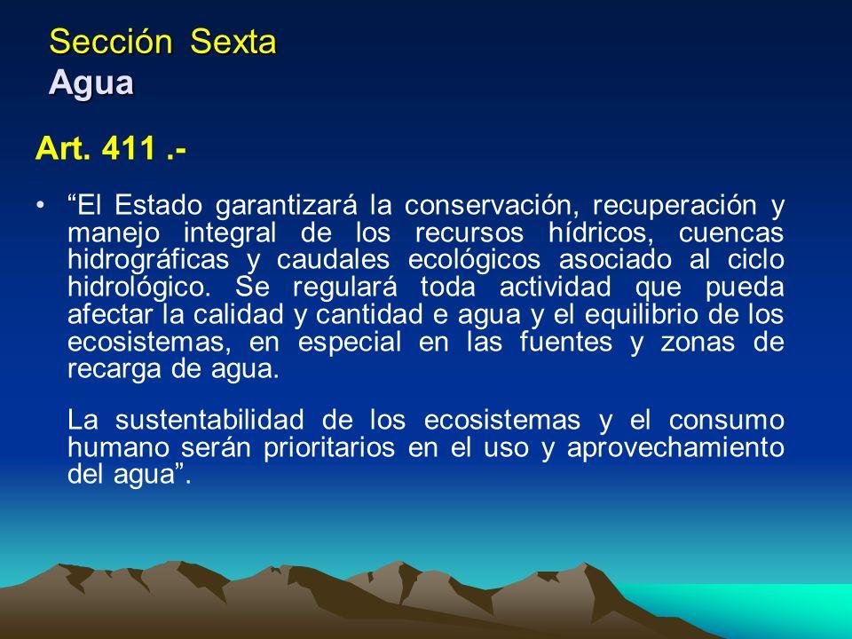 Sección Sexta Agua Art. 411 .-