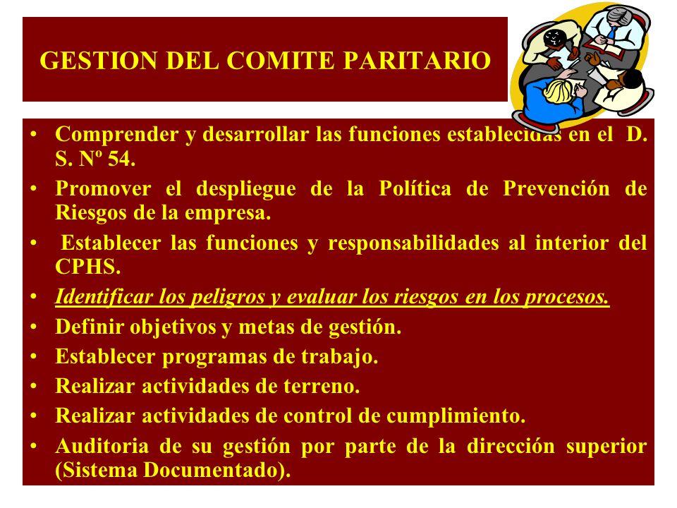 GESTION DEL COMITE PARITARIO