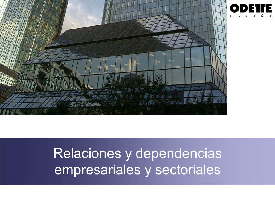 Relaciones y dependencias empresariales y sectoriales