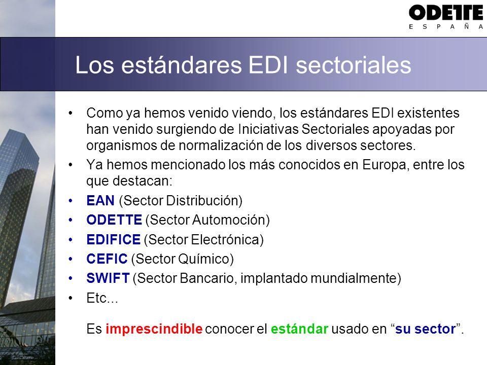 Los estándares EDI sectoriales