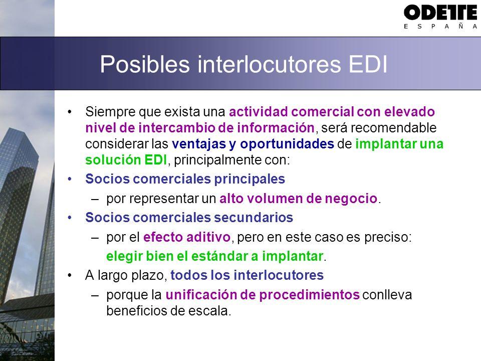 Posibles interlocutores EDI