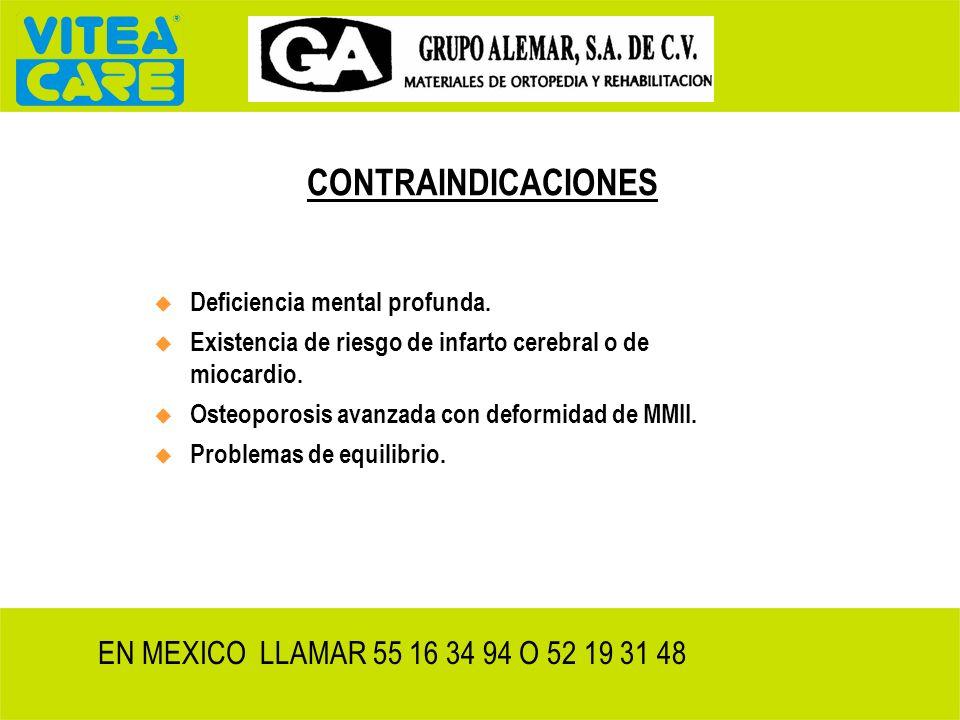 CONTRAINDICACIONES EN MEXICO LLAMAR 55 16 34 94 O 52 19 31 48