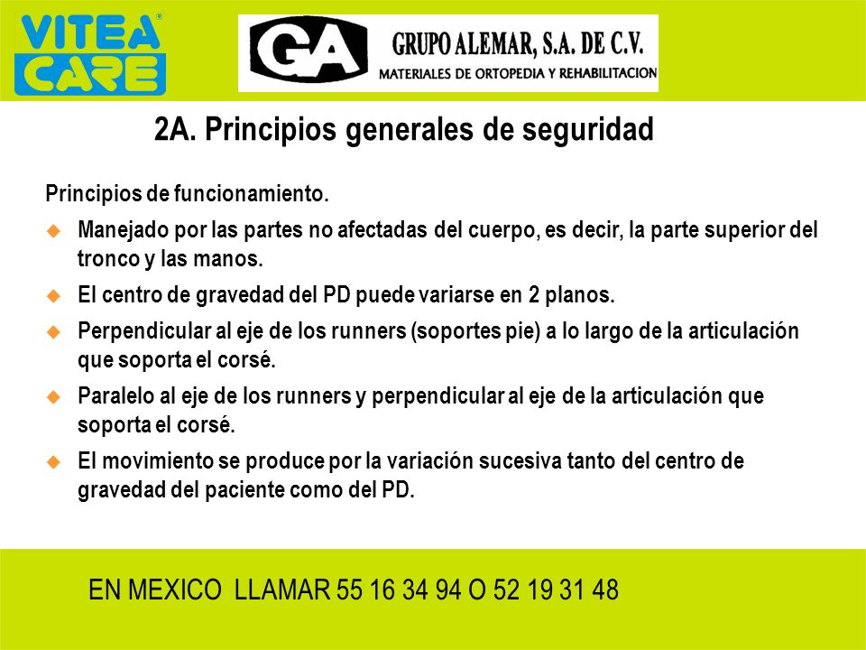 2A. Principios generales de seguridad