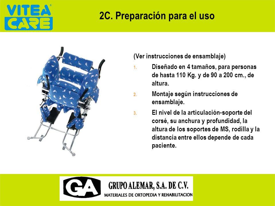 2C. Preparación para el uso