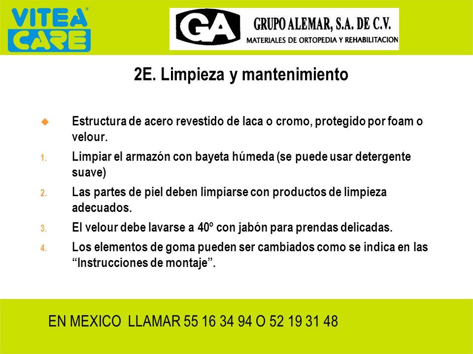 2E. Limpieza y mantenimiento