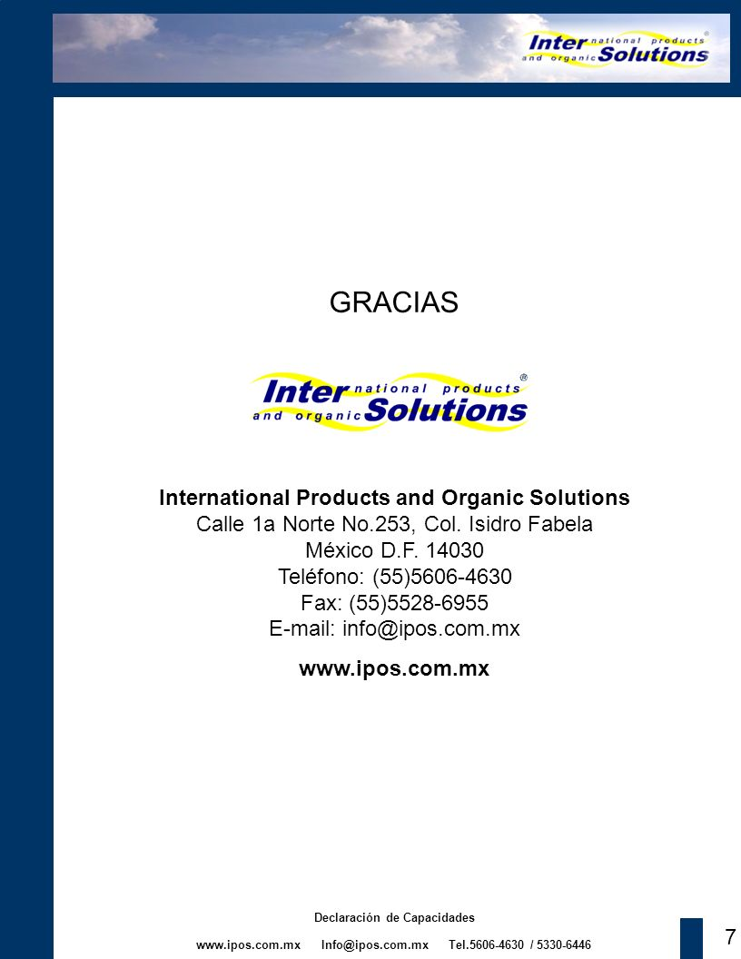 GRACIAS International Products and Organic Solutions