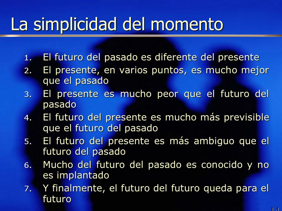 La simplicidad del momento