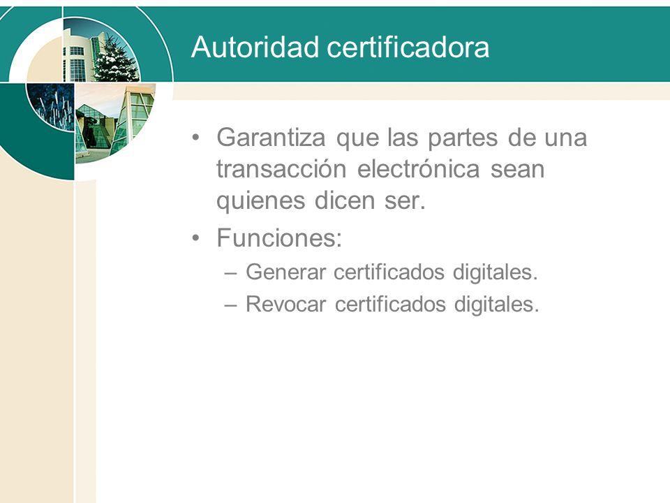 Autoridad certificadora