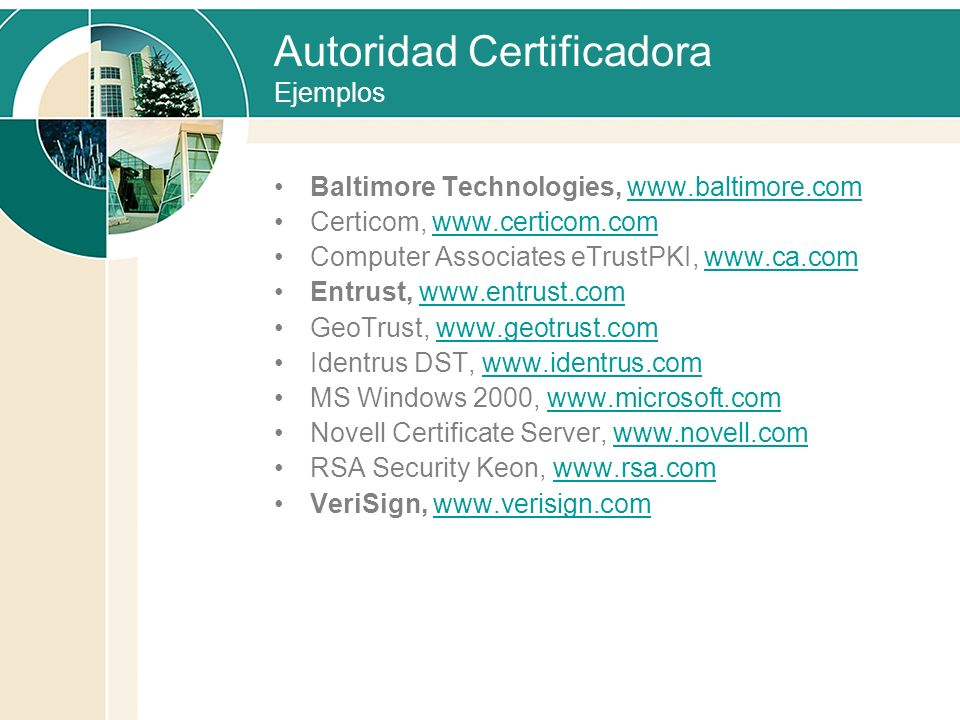 Autoridad Certificadora Ejemplos