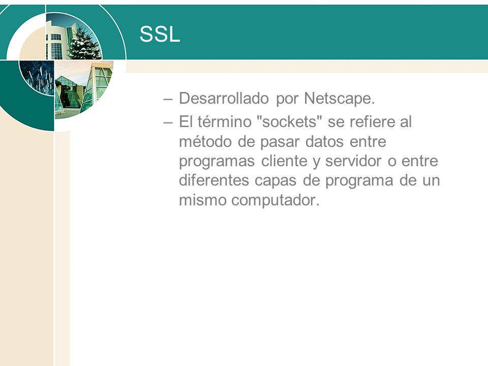 SSL Desarrollado por Netscape.