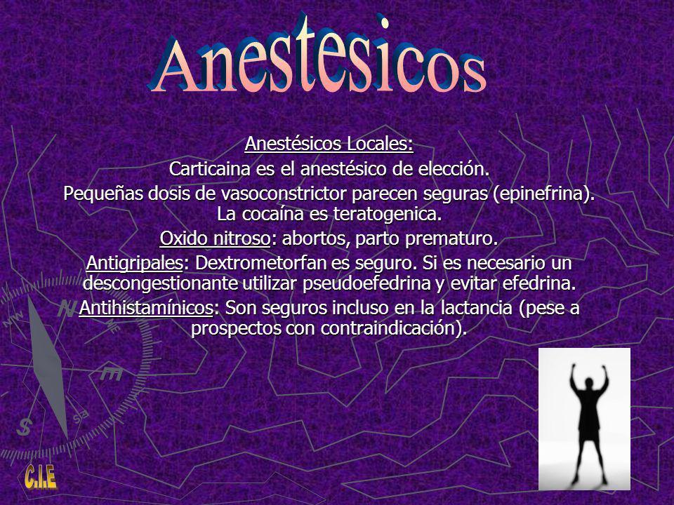 Anestesicos Anestésicos Locales: