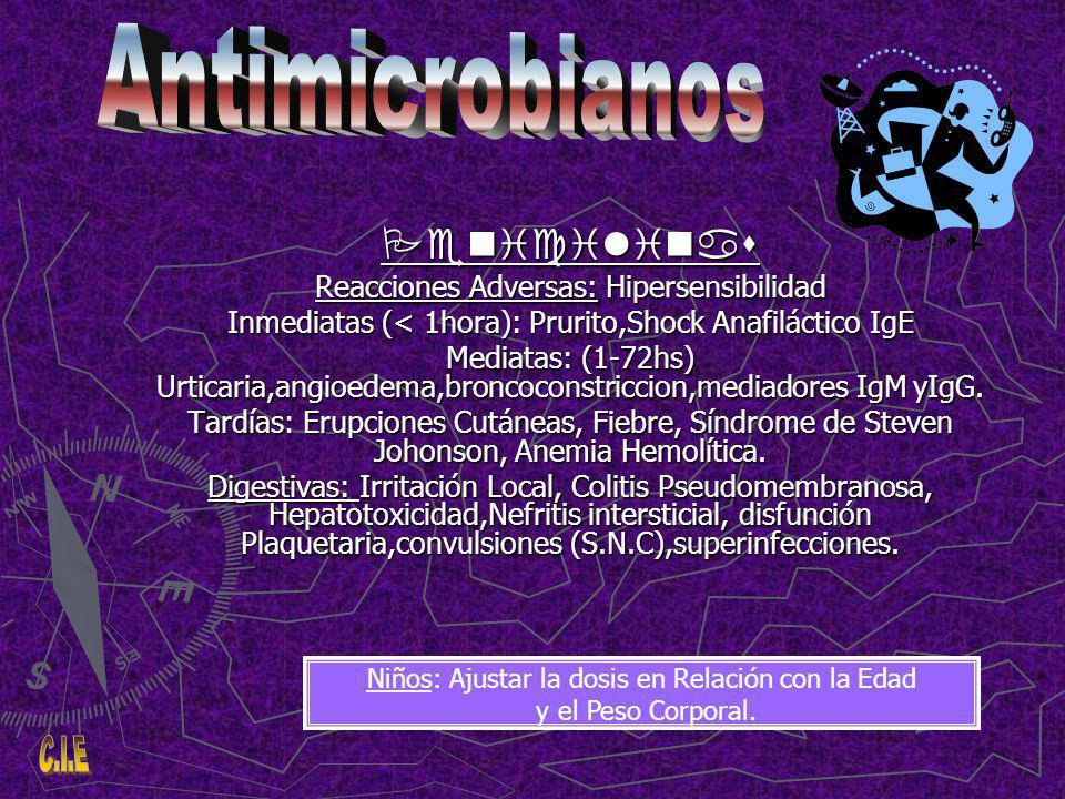 Antimicrobianos Penicilinas Reacciones Adversas: Hipersensibilidad