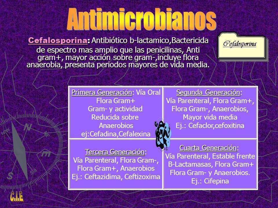 Antimicrobianos Cefalosporina