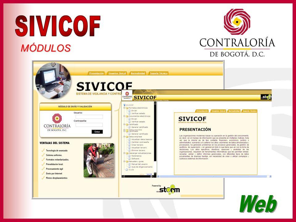 SIVICOF MÓDULOS Web