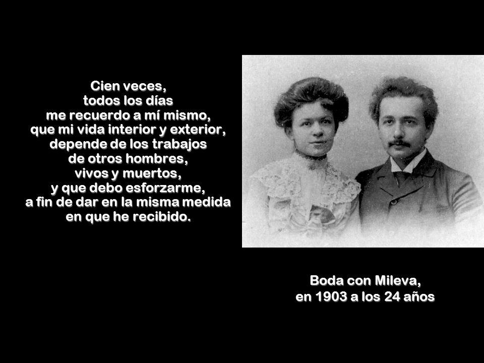 Boda con Mileva, en 1903 a los 24 años