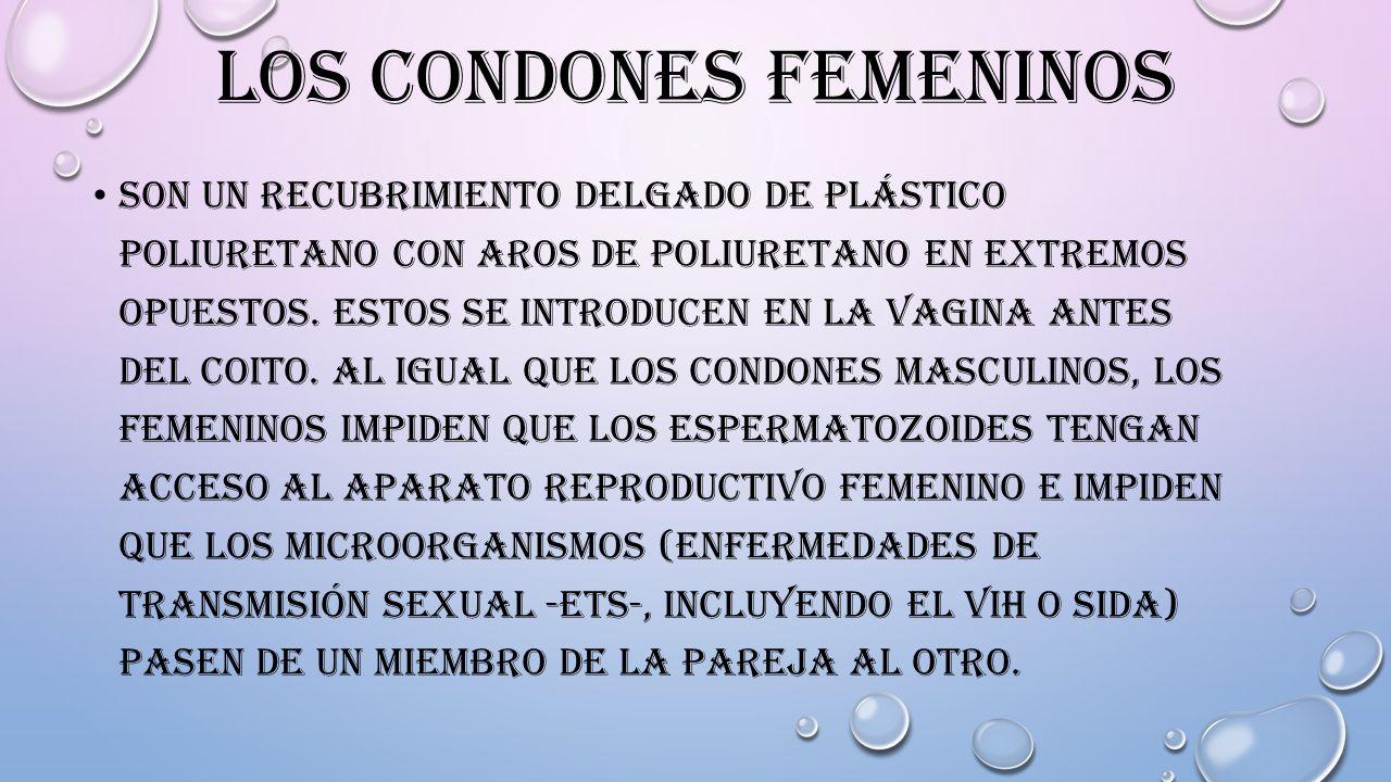 Los condones femeninos