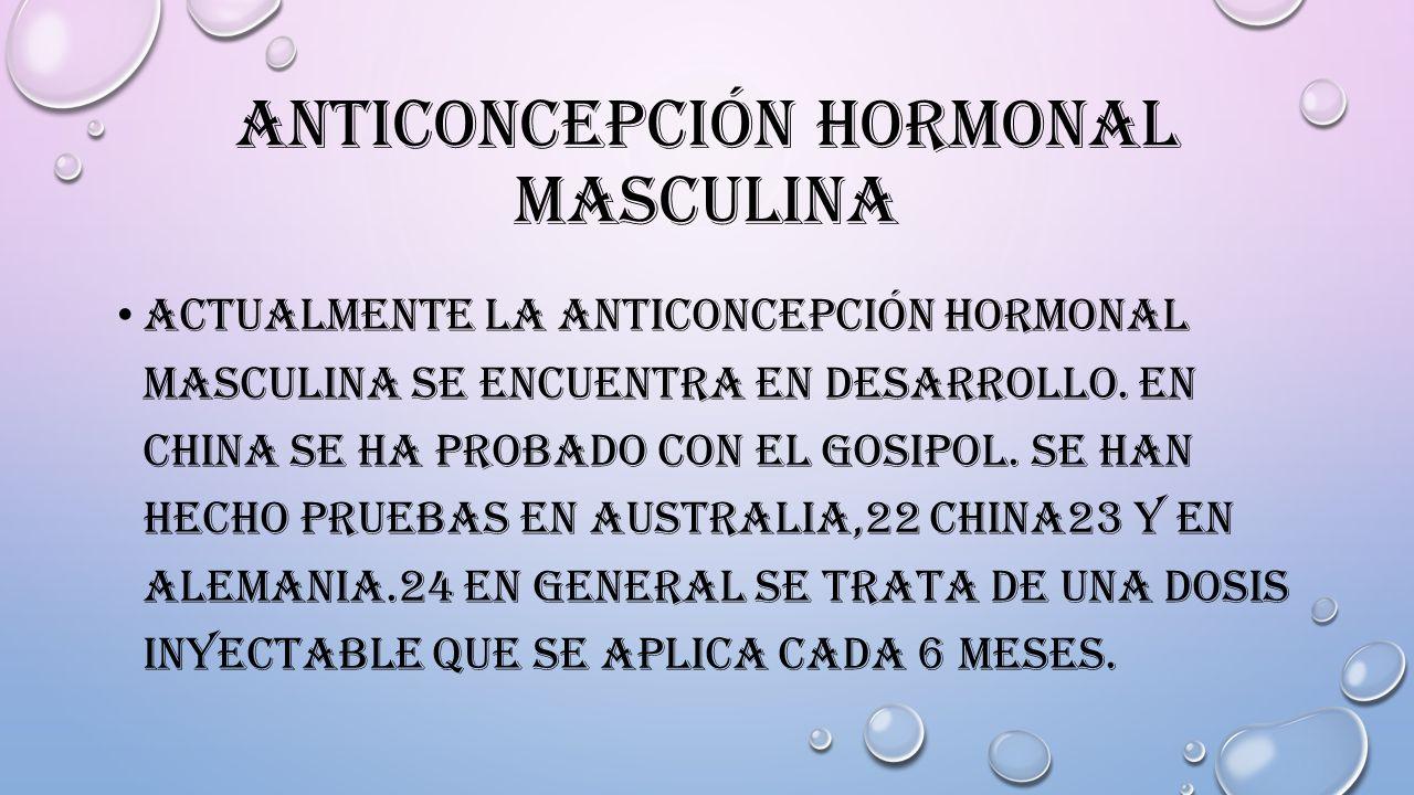 Anticoncepción hormonal masculina