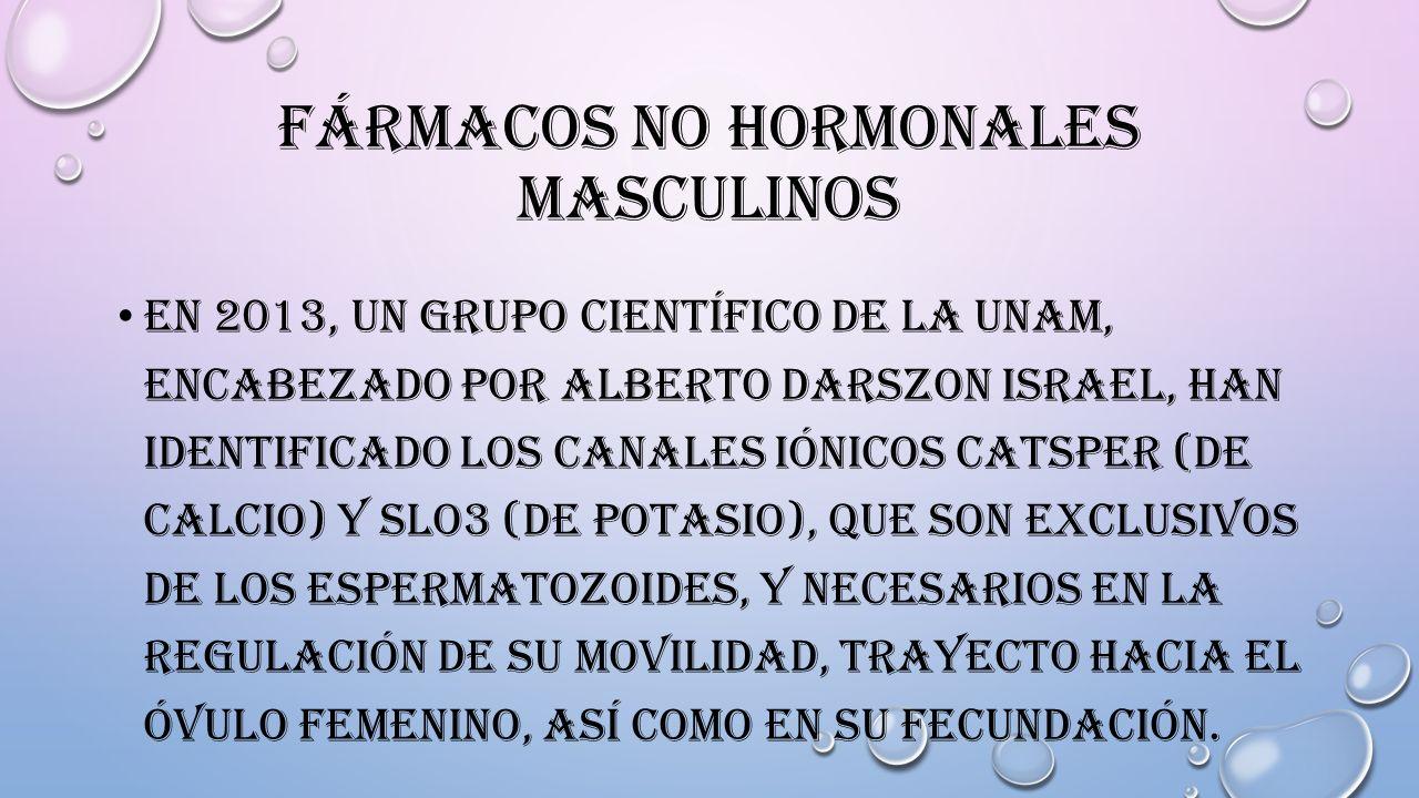 Fármacos no hormonales masculinos