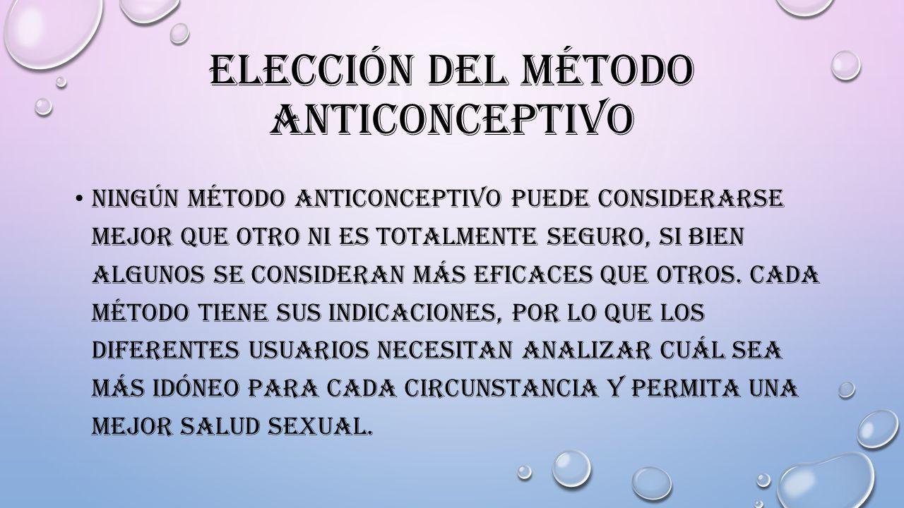 Elección del método anticonceptivo